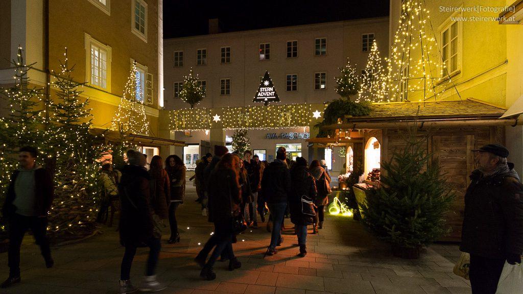 Sternadvent in der Salzburger Innenstadt